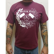 T-shirt Working Class Pride - oxblood